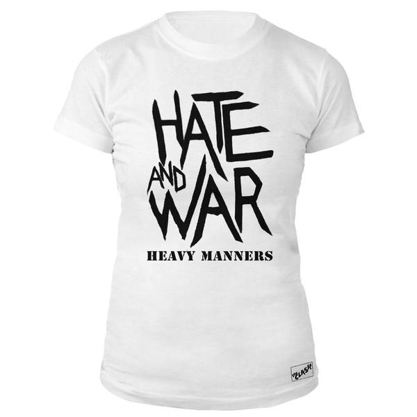 Hate and War Ladies White T-Shirt-The Clash