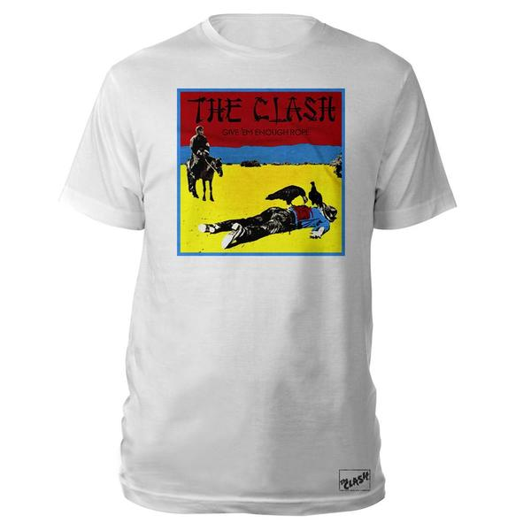 Give 'Em Enough Rope White T-Shirt-The Clash