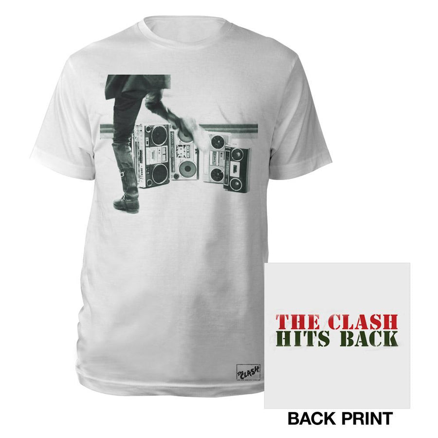 Hits Back Text T-Shirt-The Clash