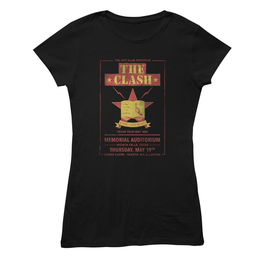 Texas Tour 83 Ladies T-Shirt-The Clash