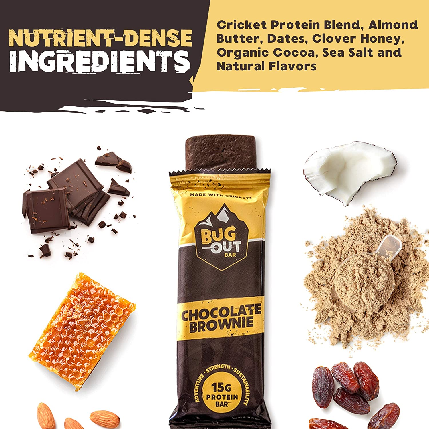 Chocolate Brownie <br> Cricket Protein Bars <br> (12 pack)
