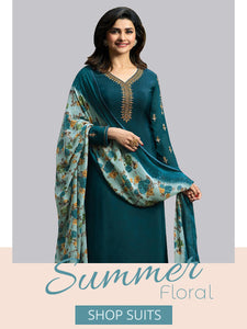 Shop Designer Straight Suits Online in India - YOYO Fashion