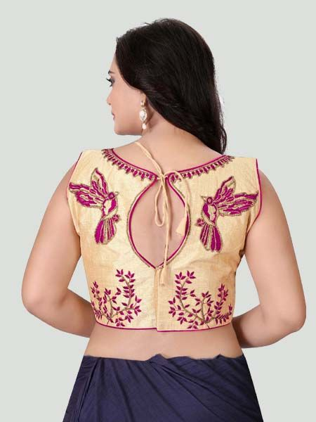 Pink Boat Neck Women's Stitched Blouse Online - YOYO Fashion
