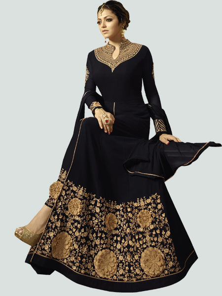 Latest Black Anarkali Dress Online - YOYO Fashion