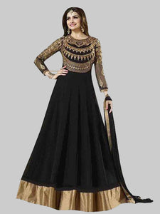 Buy Black & Golden Embellished Anarkali Suit Online On YOYO Fashion
