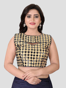 Buy Black Mirror Work Blouse Online in India from YOYO Fashion