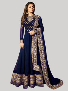 Buy Blue Georgette Anarkali Suit Online - YOYO Fashion