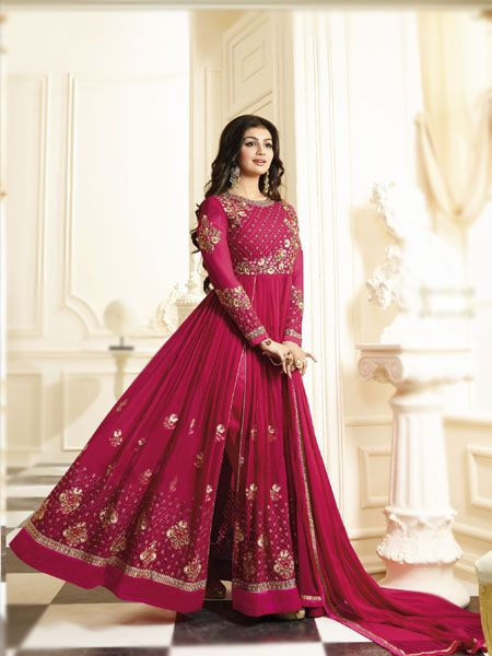 Buy Awesome Pink Anarkali Salwar Suit Online - YOYO Fashion.