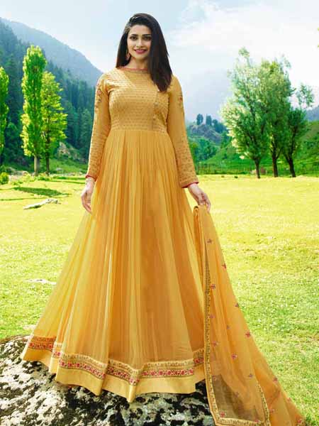 Designer Yellow Anarkali Suit