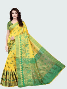 Designer Yellow jacquard Fancy Party Wear Saree Online - YOYO Fashion