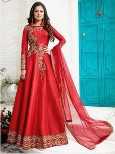 Buy Fetching Red Anarkali Salwar Suit Online - YOYO Fashion