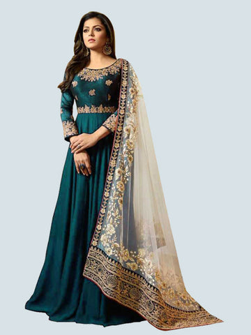 Buy Firoji Georgette Anarkali Suit Online - YOYO Fashion