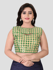 Buy Green Mirror Work Blouse Online in India from YOYO Fashion