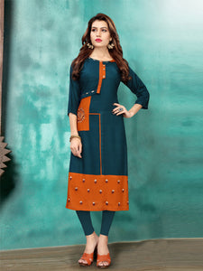 Buy Heavy Rayon Embroidery Work Kurti Online - YOYO Fashion