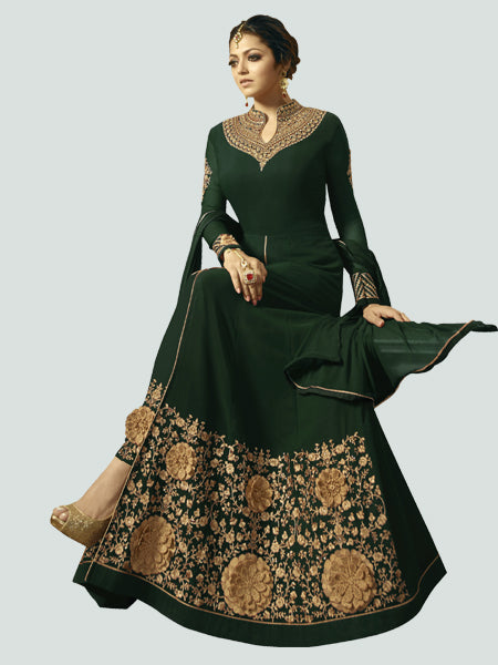 Latest Green Anarkali Dress Online - YOYO Fashion