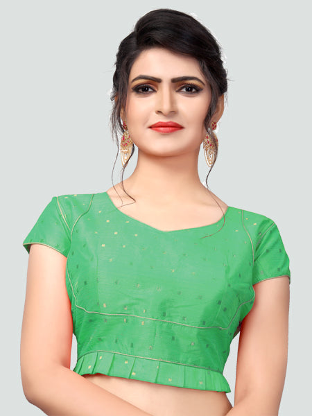 bd98d00ec9a4f Shop Latest Green Silk Saree Blouse for Women Online in India – YOYO ...