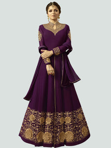 Latest Purple Anarkali Dress Online - YOYO Fashion