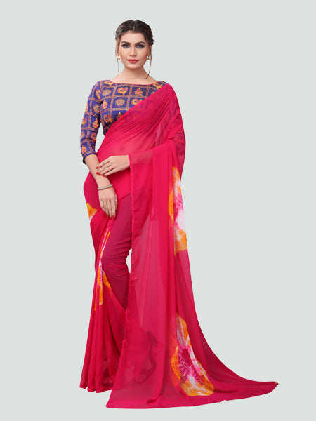 Buy Printed Embroidered Saree Online - YOYO Fashion