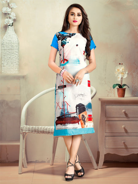 Buy Rayon Digital Print Kurti Online - YOYO Fashion