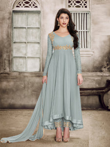 Shop Sparky Grey Anarkali Salwar Suit Design Online - YOYO Fashion