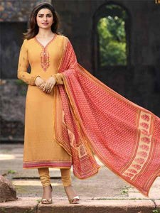 Shop Prachi Desai Yellow Embroidered Straight Suit Online in India from YOYO Fashion