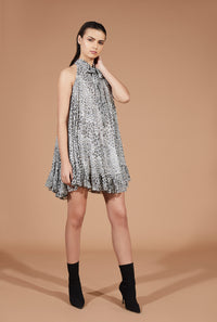 AARYA NECK TYE UP DRESS