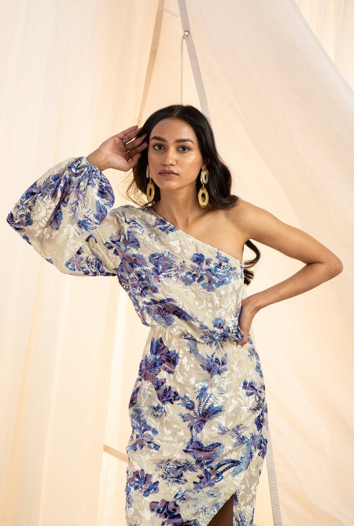 Floral Assymetrical Dress