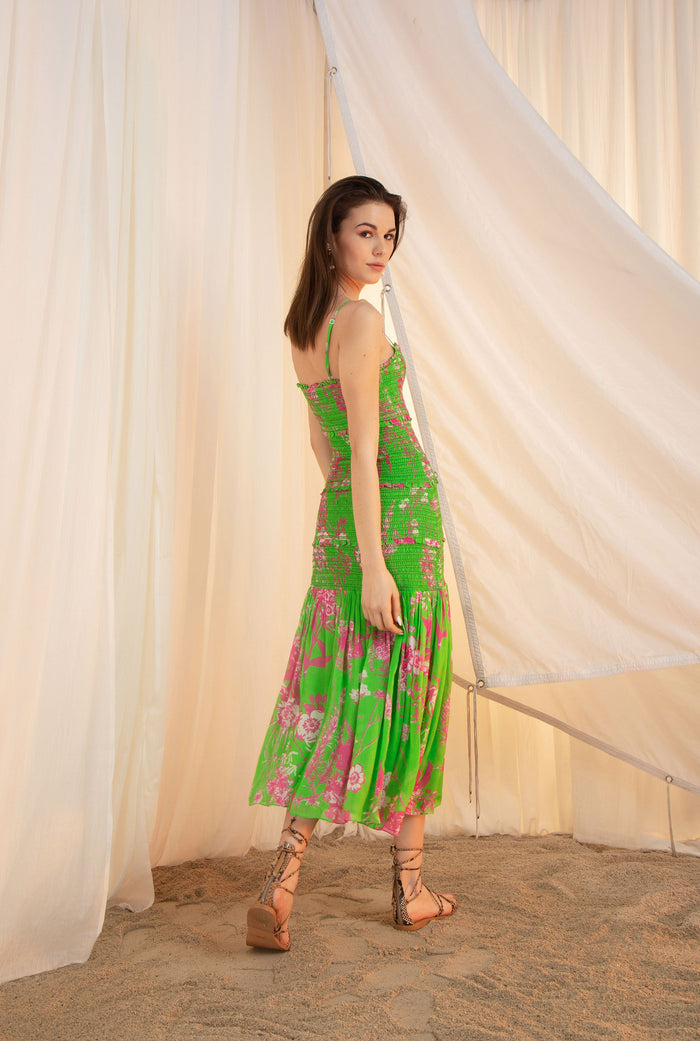 Brie Green Dress Long