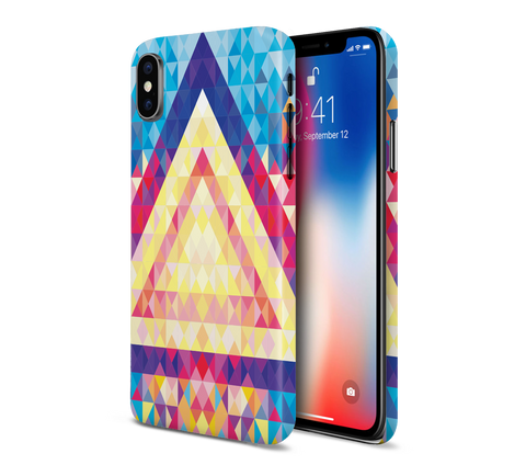 Water, Fire, Triangle Phone Case for Apple iPhone, Samsung Galaxy, & Google Pixel