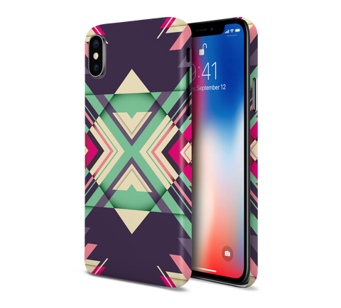 Violet x Mint Geometric Phone Case for Apple iPhone, Samsung Galaxy, & Google Pixel