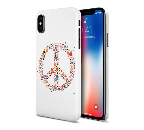 Primary Colored Bubbles x Peace Sign Phone Case for Apple iPhone, Samsung Galaxy, & Google Pixel