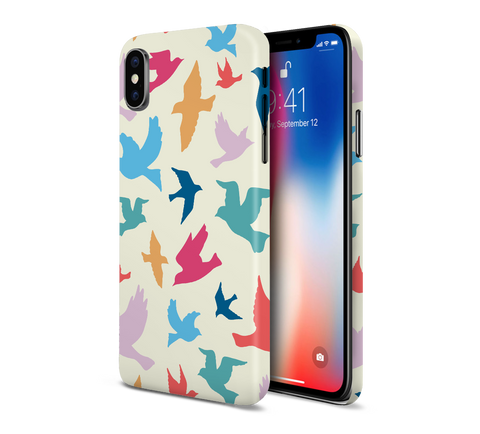 Multicolored Geometric Birds Phone Case for Apple iPhone, Samsung Galaxy, & Google Pixel
