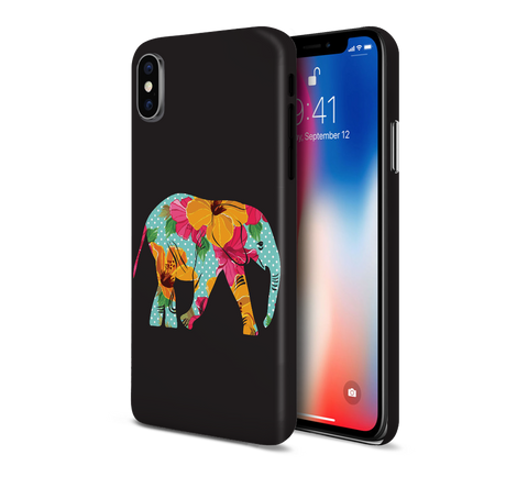Floral Indian Elephant Phone Case for Apple iPhone, Samsung Galaxy, & Google Pixel