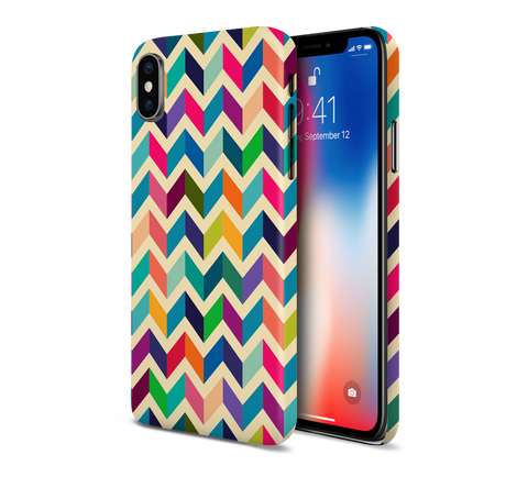 Multicolored Geometric Chevron Phone Case for Apple iPhone, Samsung Galaxy, & Google Pixel