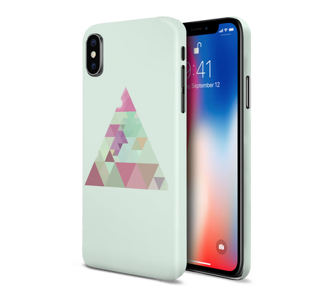 Geometric Sea Green Triangle Phone Case for Apple iPhone, Samsung Galaxy, & Google Pixel