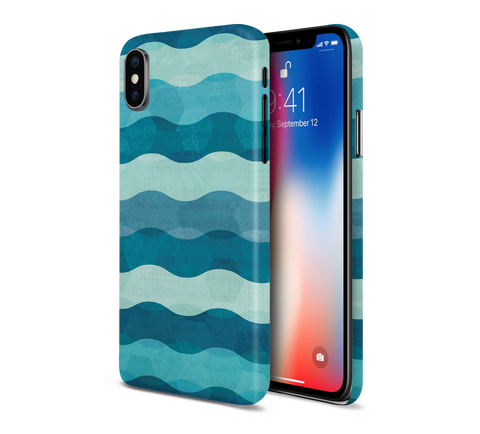 Ocean Waves x Geometric Phone Case for Apple iPhone, Samsung Galaxy, & Google Pixel