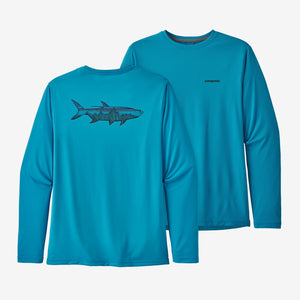 Patagonia - Men's Long Sleeve Cap Cool Daily Fish Graphic Shirt