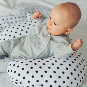BLACK DOTTY NURSING PILLOW