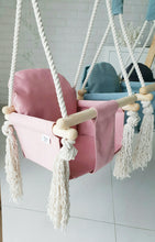 Load image into Gallery viewer, BUY WOODEN SWING - CANDY PINK