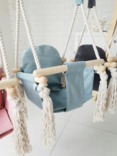 Load image into Gallery viewer, BUY VELVET BUNNY WOODEN SWING