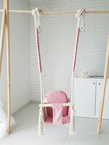 ONLINE WOODEN SWING - CANDY PINK
