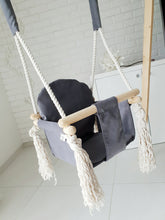 Load image into Gallery viewer, BUY ONLINE BUNNY WOODEN SWING