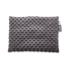 Load image into Gallery viewer, GREY BOWS BABY PILLOW WITH MINKY