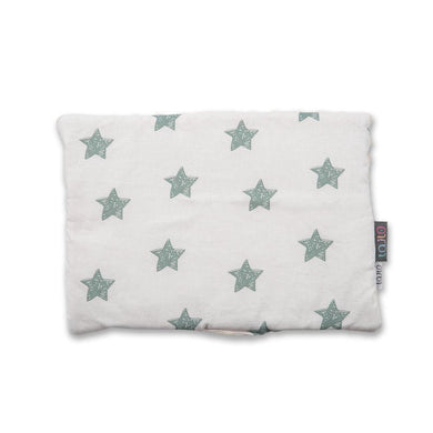 GREEN STARS BABY PILLOW WITH MINKY