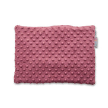 Load image into Gallery viewer, BLUSH HEARTS FLAT PILLOW FOR NEWBORN WITH MINKY