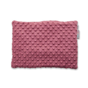 BLUSH HEARTS FLAT PILLOW FOR NEWBORN WITH MINKY
