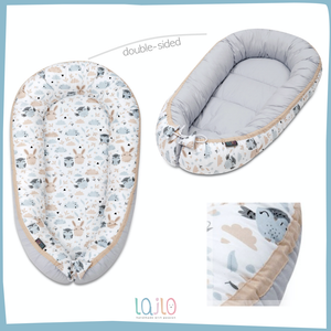 BLACK DOTTY BABY NEST 5 ELEMENTS SET