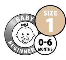 Load image into Gallery viewer, DUMMY BIBS MOCHA AND DARK OAK- BABY BEGINNER- 0-6 MONTHS
