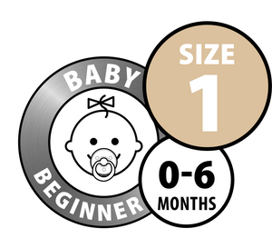 DUMMY BIBS SAGE AND CLOUD- BABY BEGINNER- 0-6 MONTHS