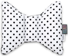 Load image into Gallery viewer, BLACK DOTTY HEAD SUPPORT PILLOW